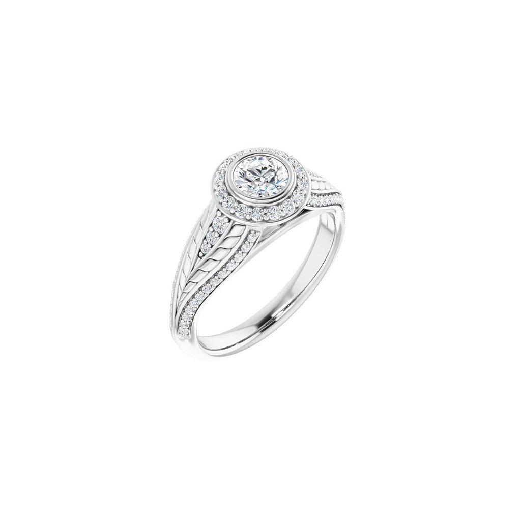 prsteň z bieleho zlata 22158b