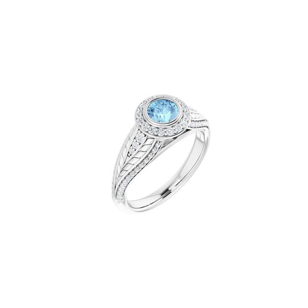 prsteň z bieleho zlata 22158bb