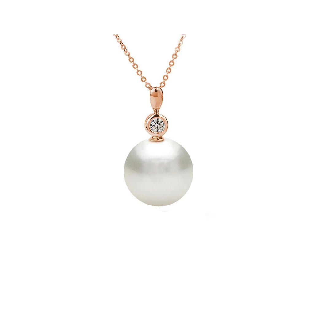 perlový prívesok z ružového zlata. 2431 RP