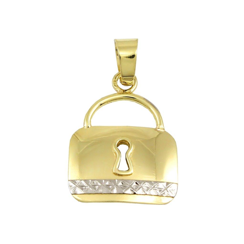 Zlatý privesok v tvare zámku 2458Ž