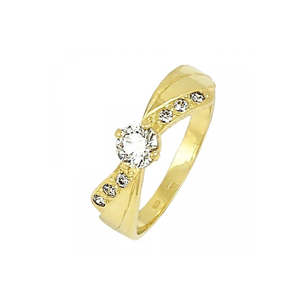 Pekný zásnubný prsteň zo žlteho zlata 2201ZB