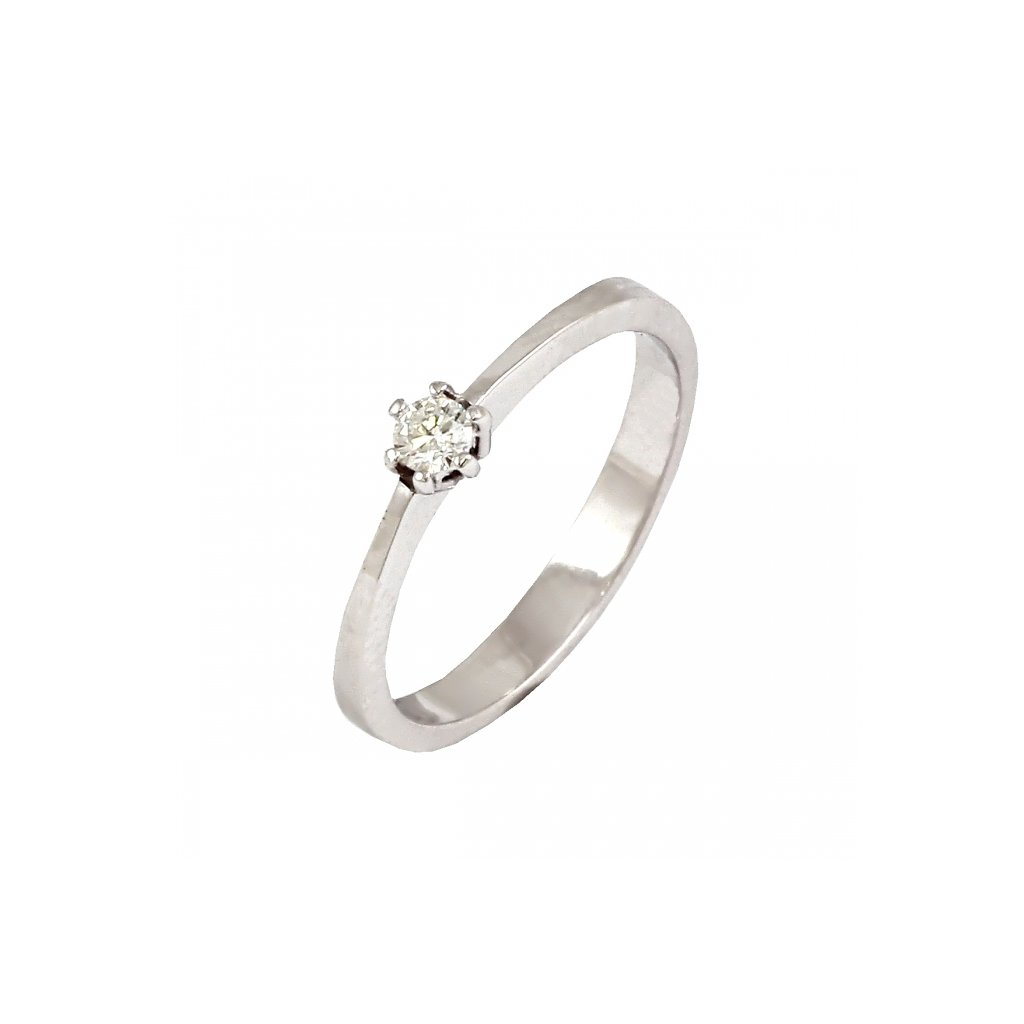 Zlatý briliantový prsteň 2231B/B/X