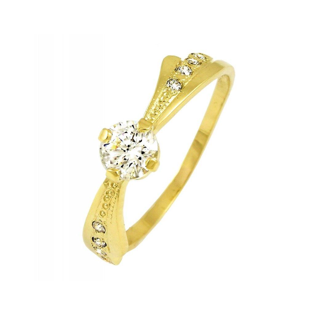Zlatý briliantový prsteň 2244B/Z/X