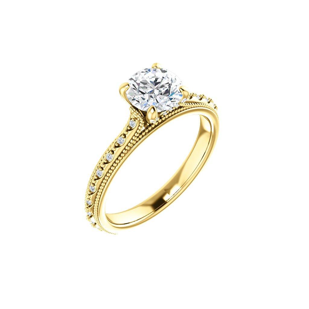 Briliantový prsteň zo žltého zlata  22150ZB