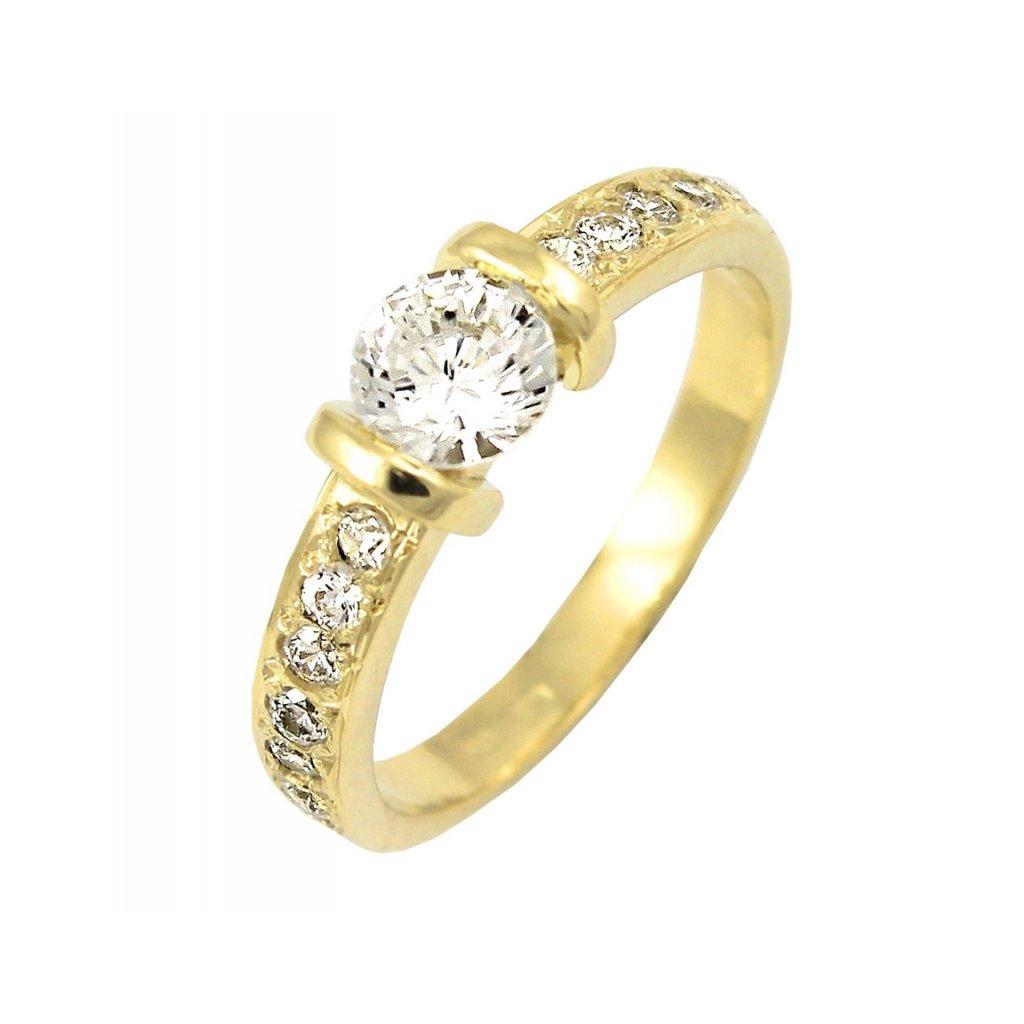 2245 krásny briliantový prsteň