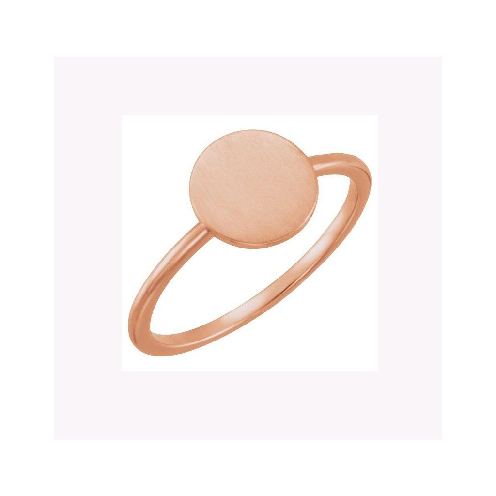 prsten z ruzoveho zlata