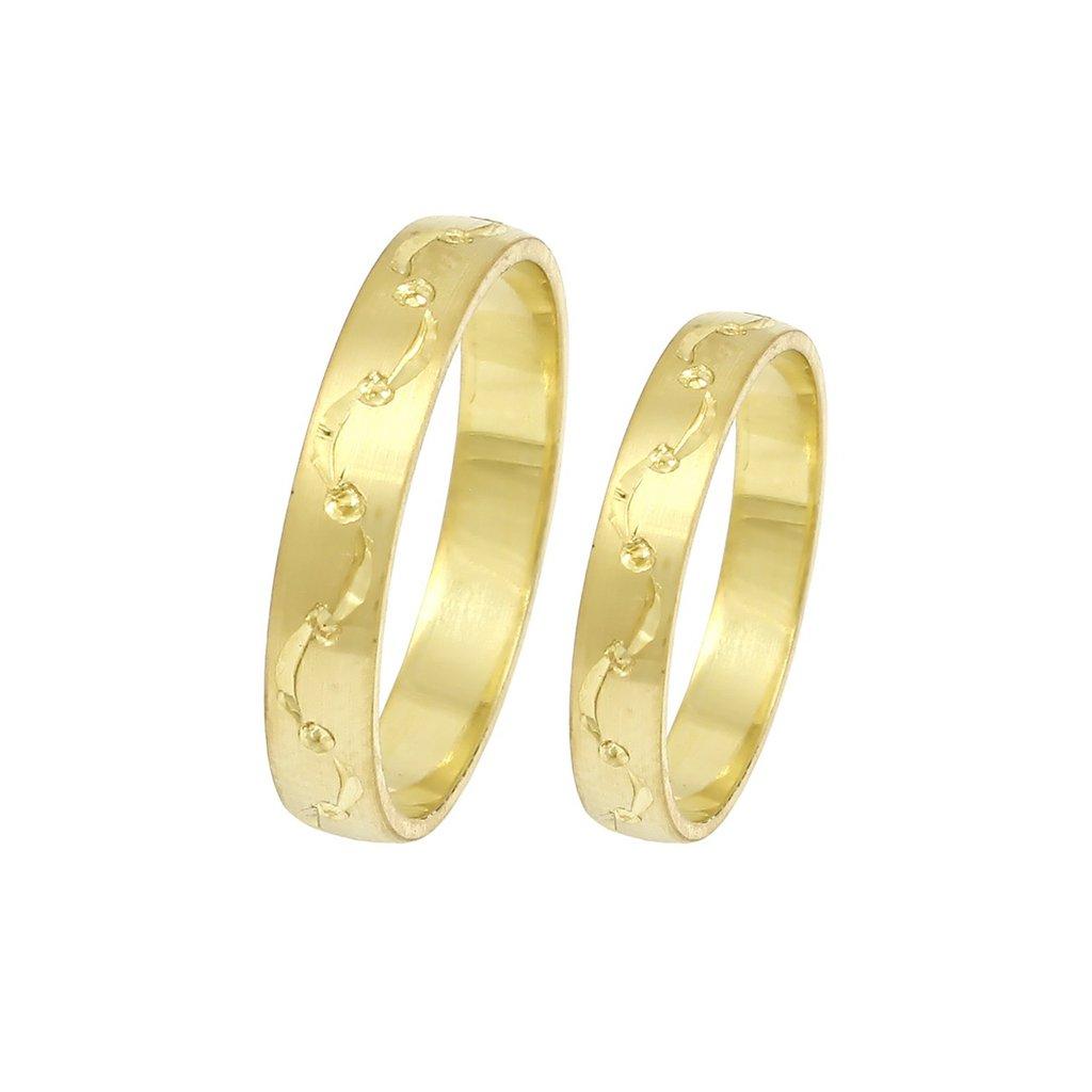 2014017 jednoduché svadobné obrúčky zo žltého zlata