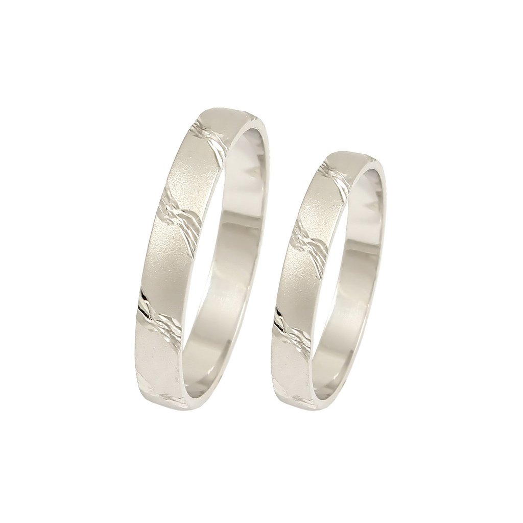 2014019 lacné snubné prstene z bieleho zlata