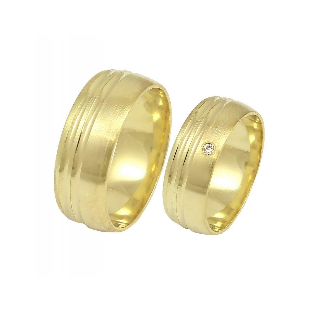Zlaté svadobné obrúčky 2014060/Z