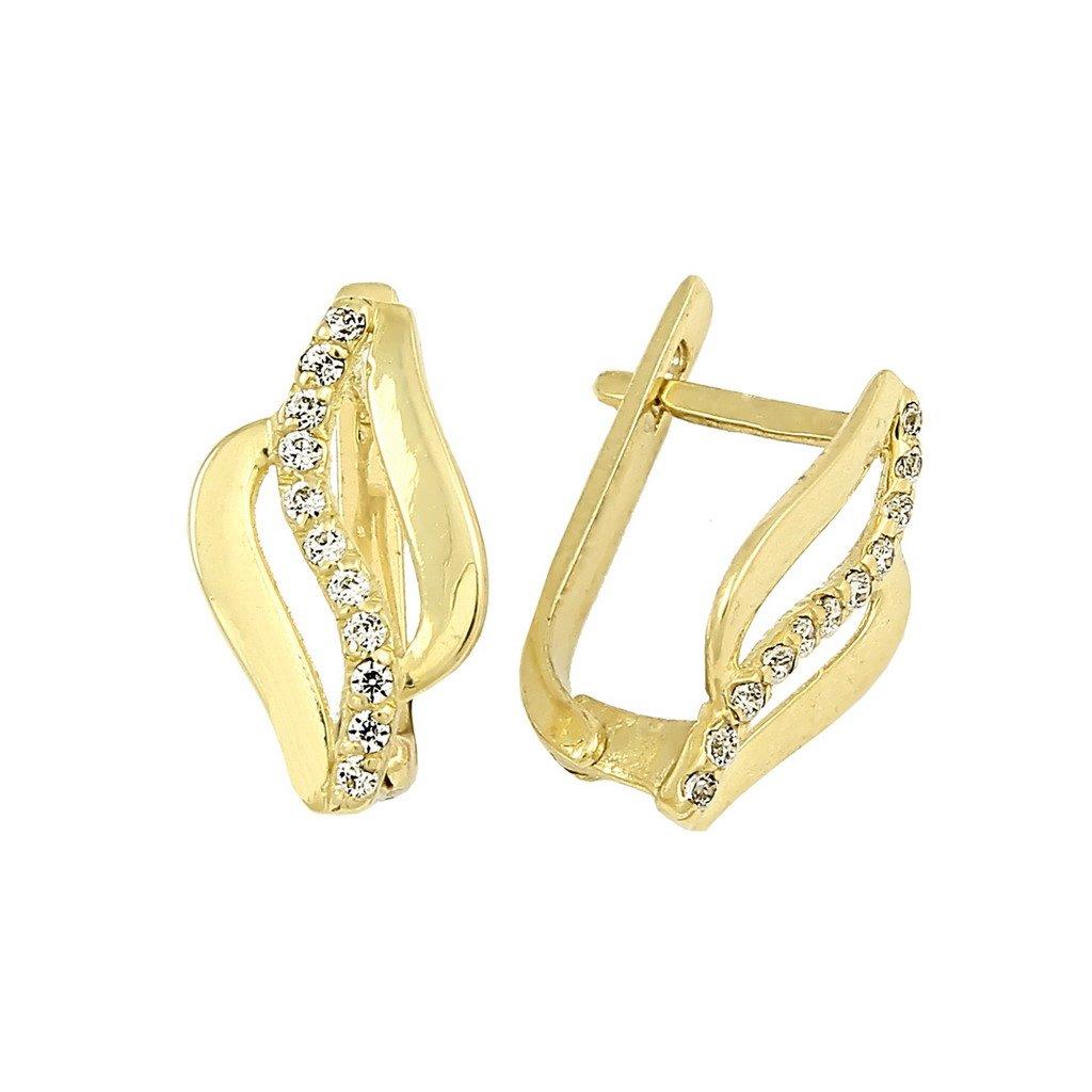 elegantné zlaté náušnice