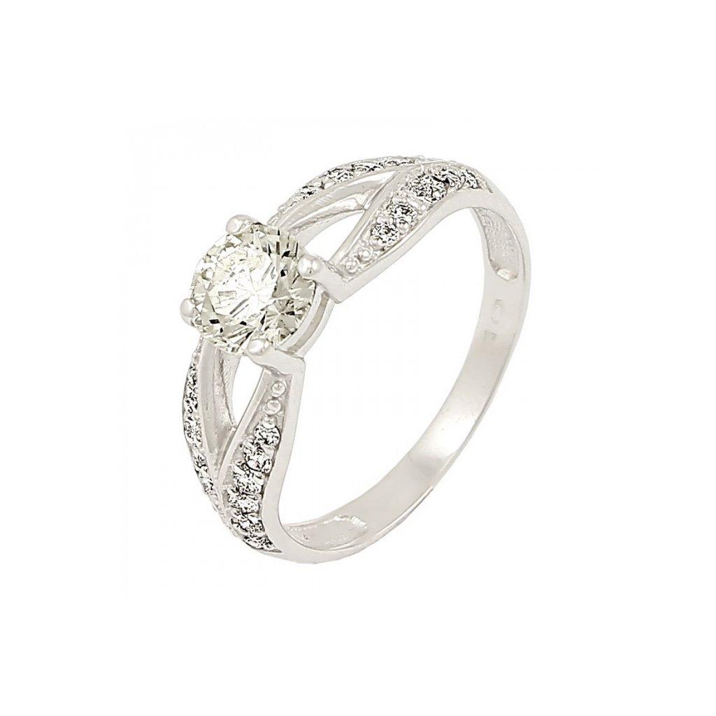 Zlatý briliantový prsteň 22110B/B/X