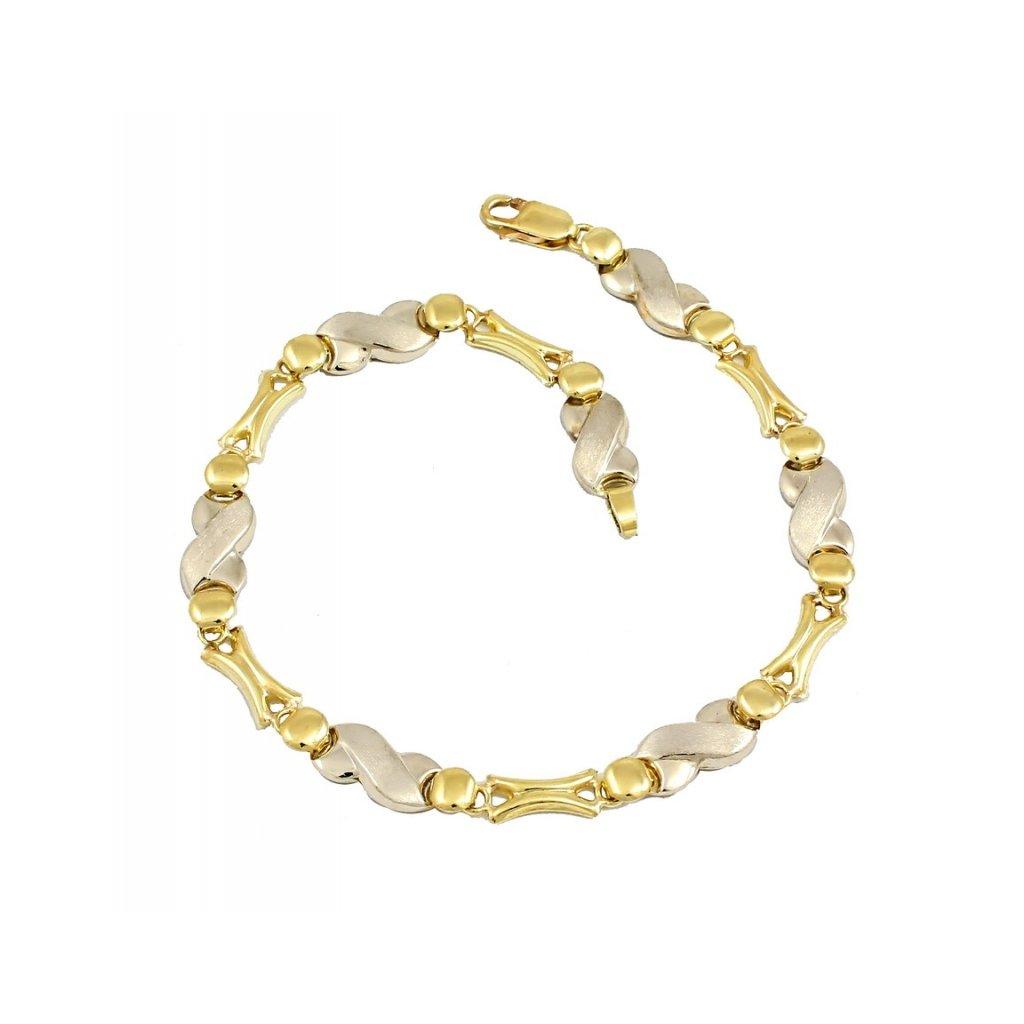 Dámsky náramok zo žlto bieleho zlata 25449 ZB