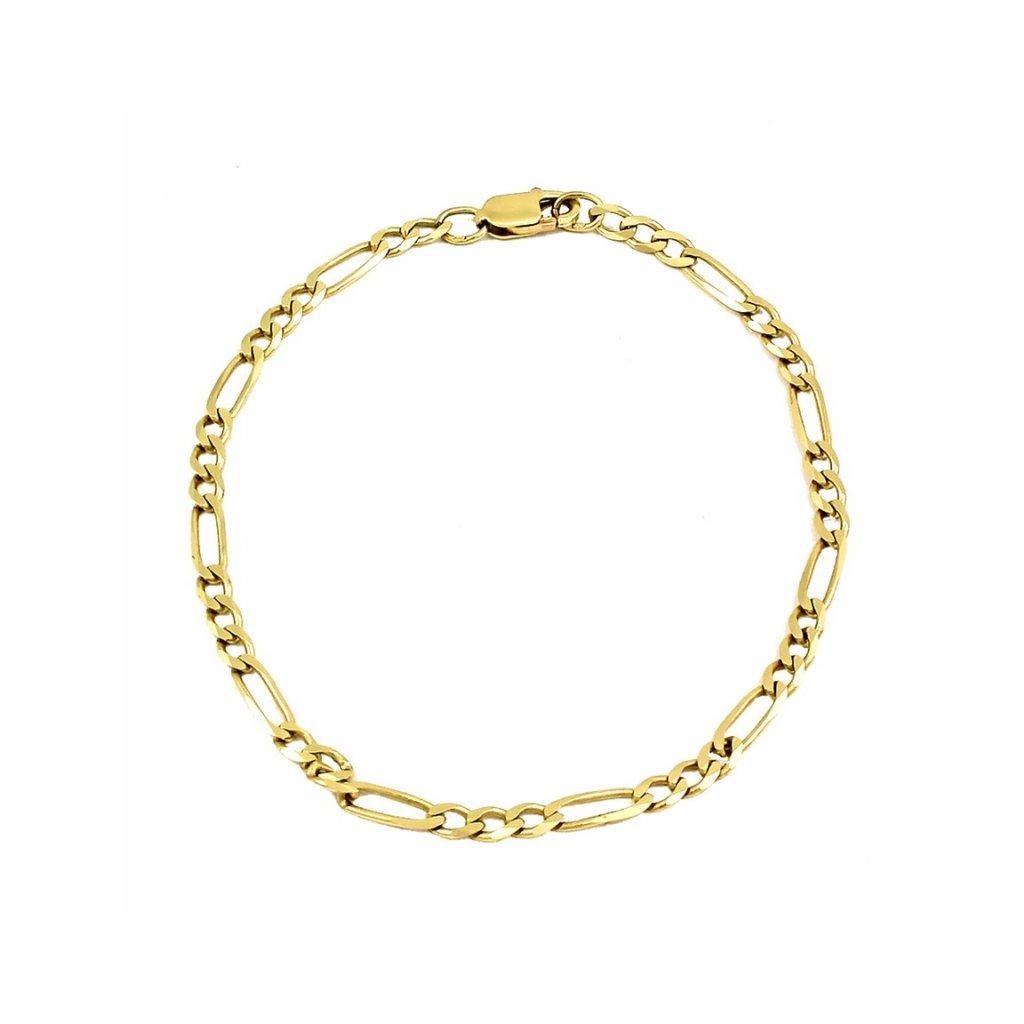 unisex zlatý náramok figaro  2508Z