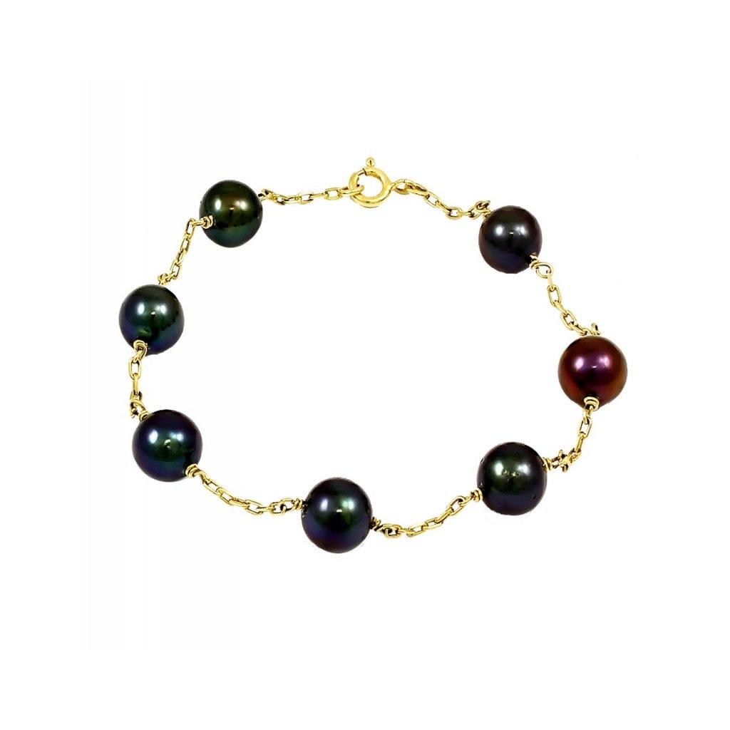 Zlatý perlový náramok 2563Z