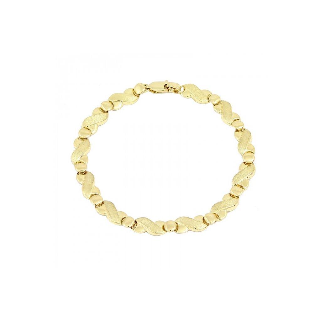 výrazný zlatý dámsky náramok 25441