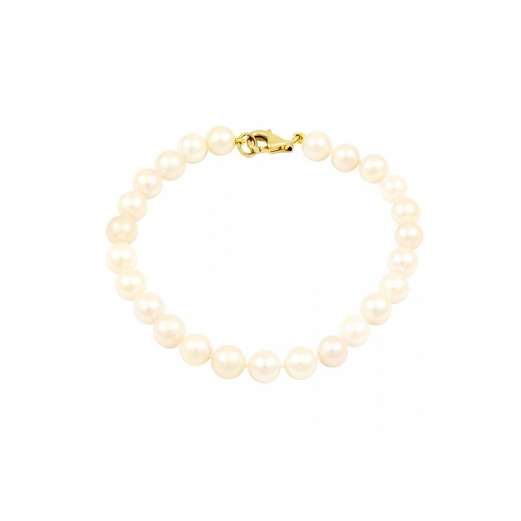 Zlatý perlový náramok 2581/Z/Pl
