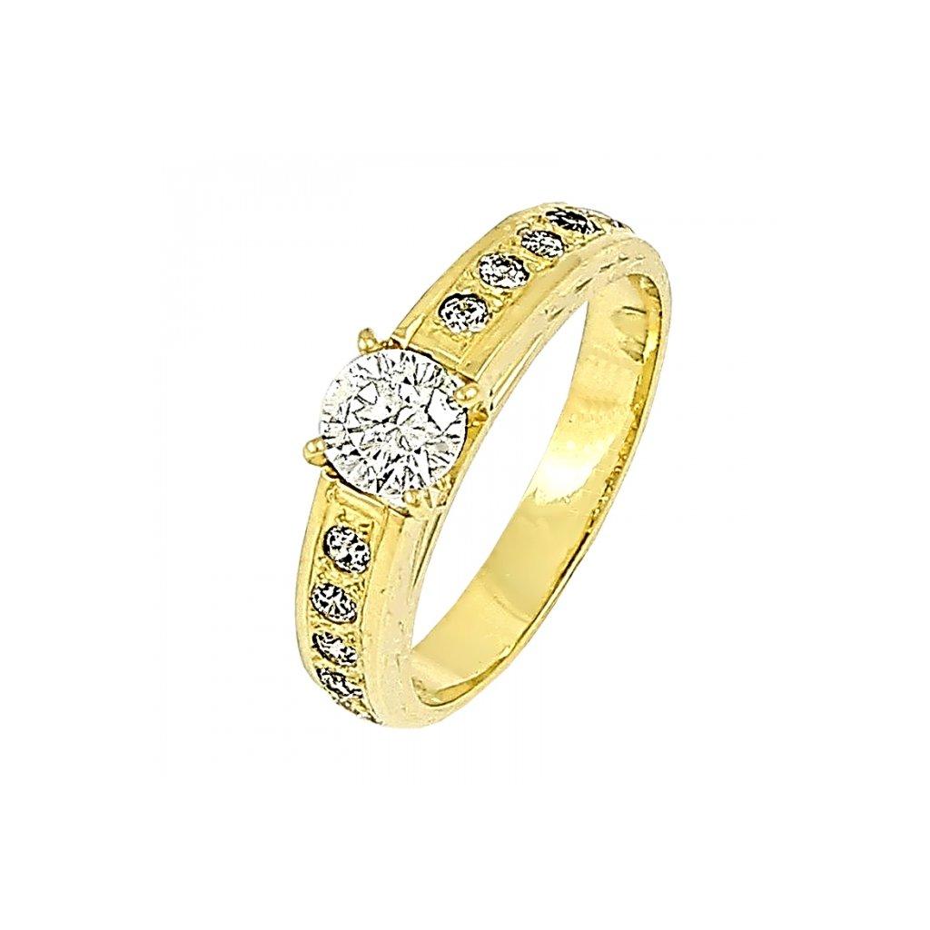 Briliantový prsteň zo žltého zlata 2201ŽB