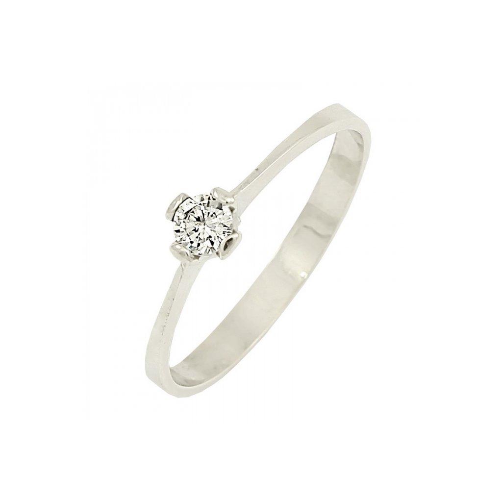 pekný briliantový prsteň 22105b