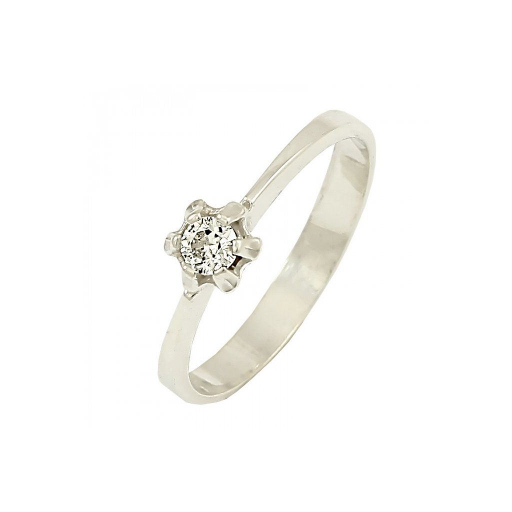 jemný briliantový prsteň 22106b