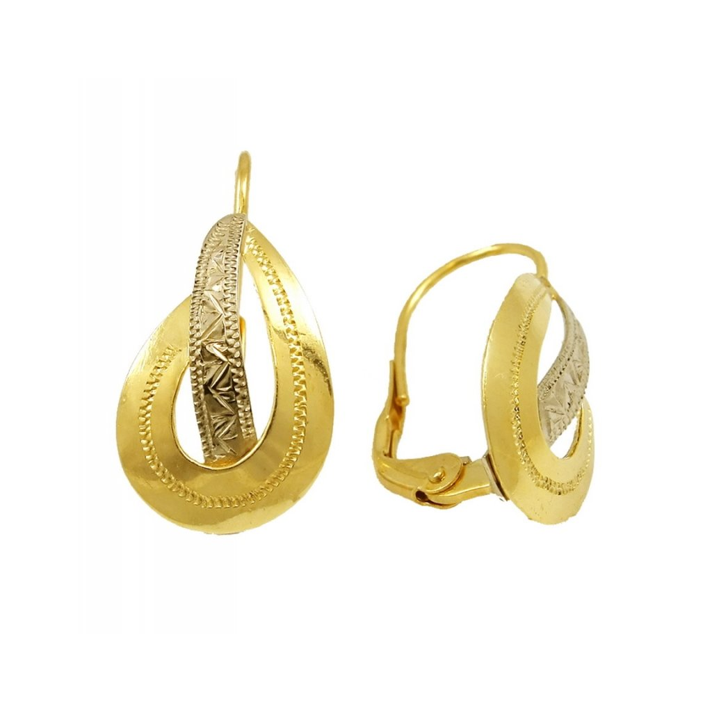 klasické zlaté náušnice 2307