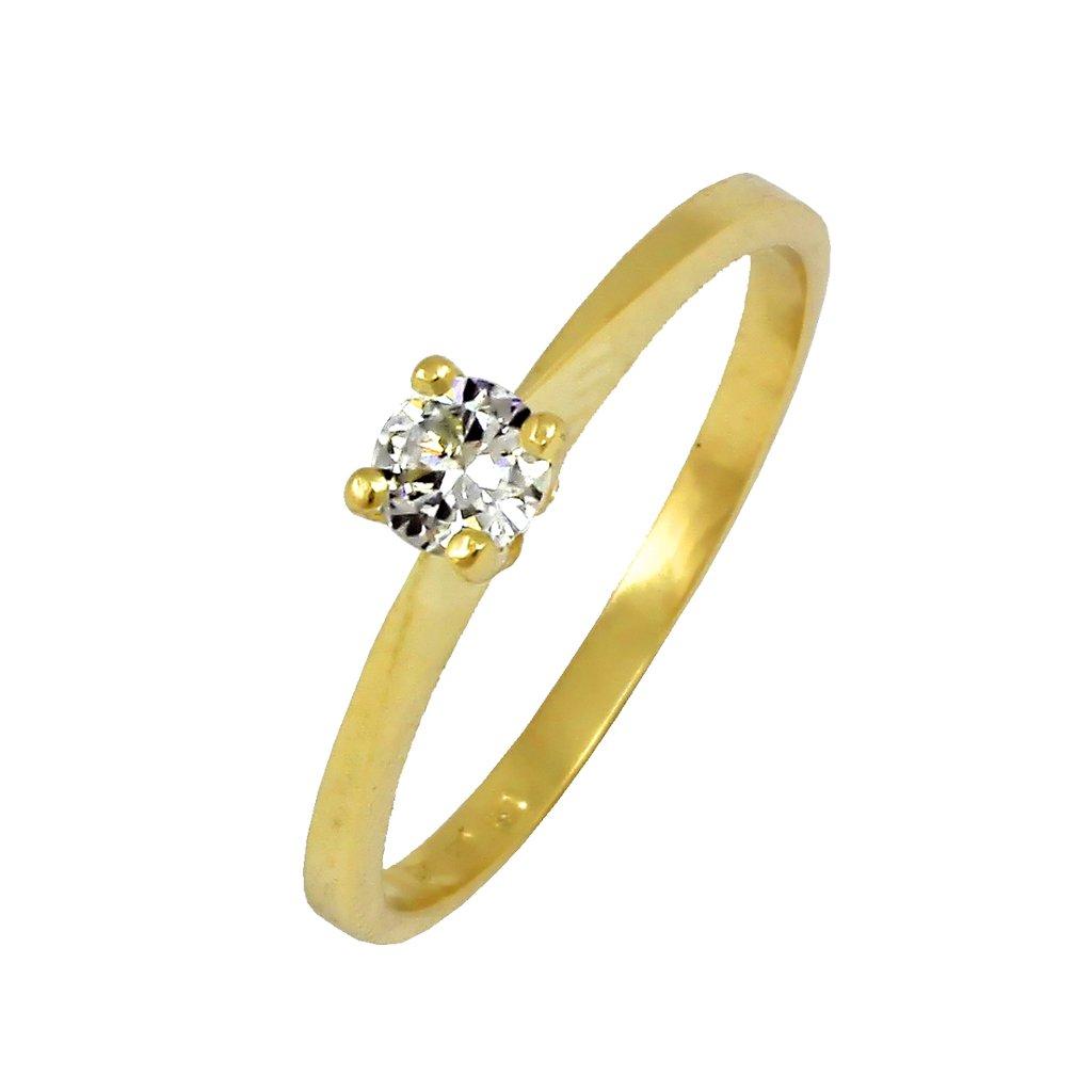zásnubný prsteň s briliantom 22107