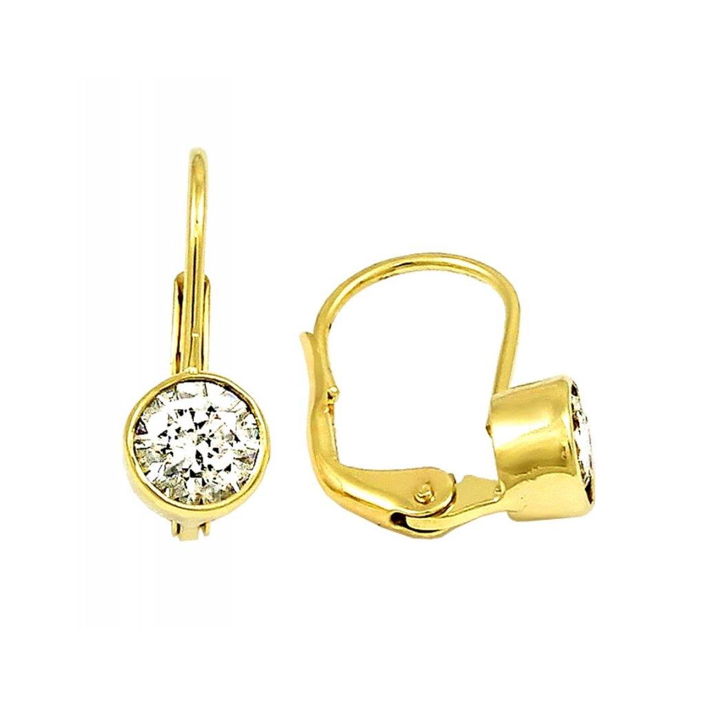 krásne zlaté náušnice 2310