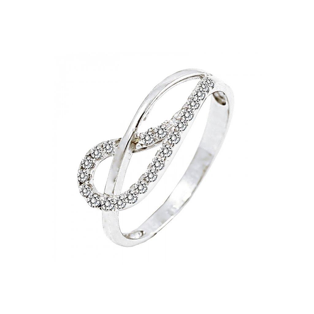 zaujímavý zlatý prsteň s briliantmi 22118