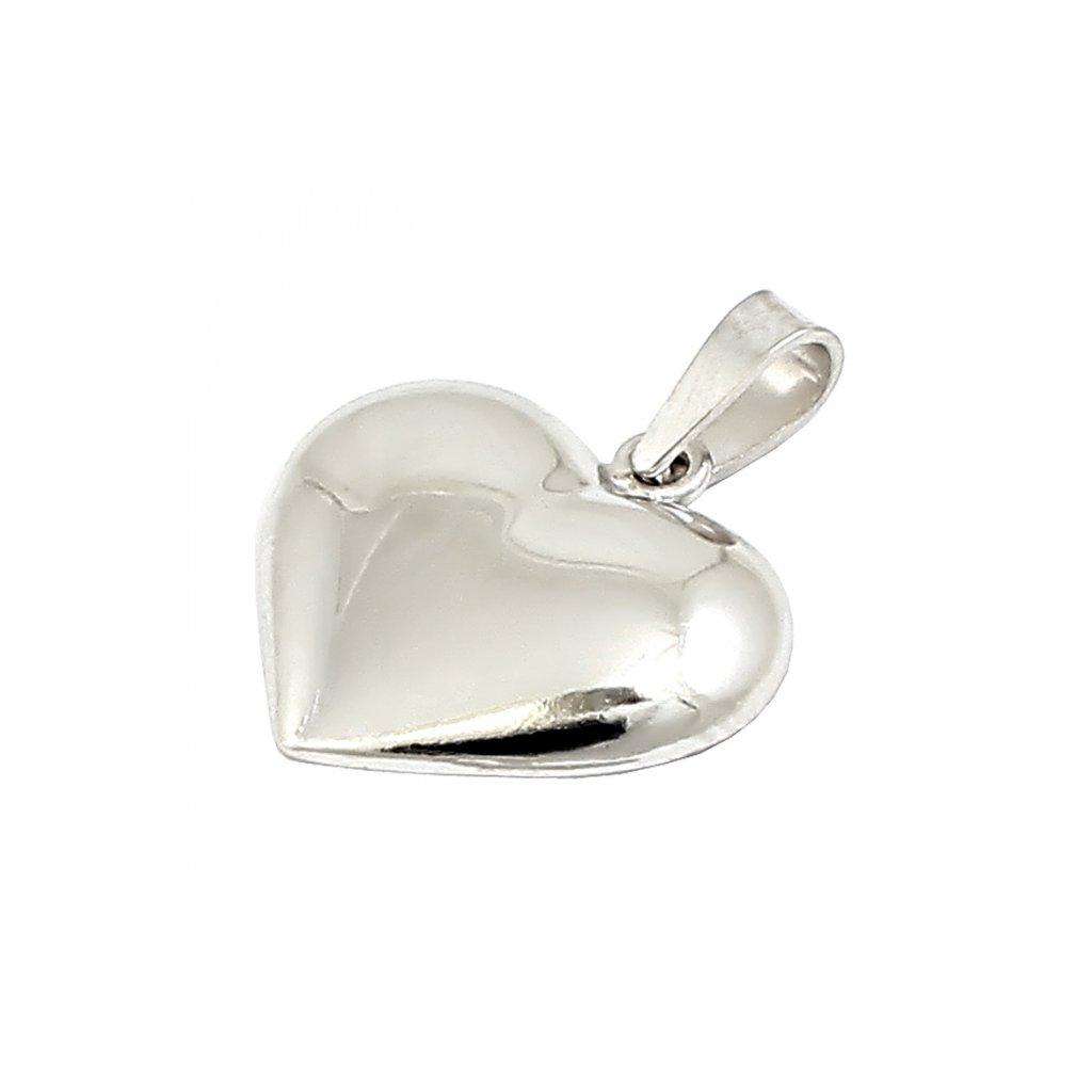 Privesok srdce z bieleho zlata 2465B