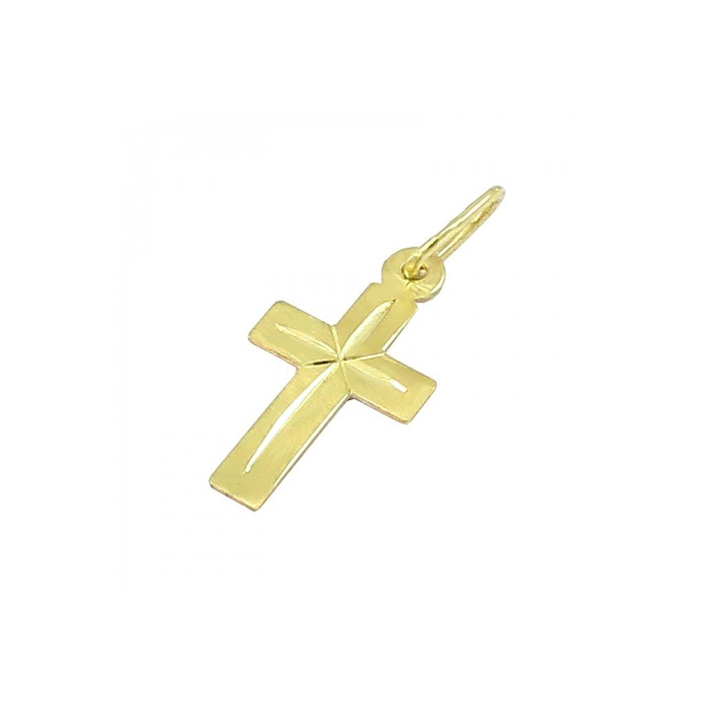 Privesok zlatý križik 2472-4Z