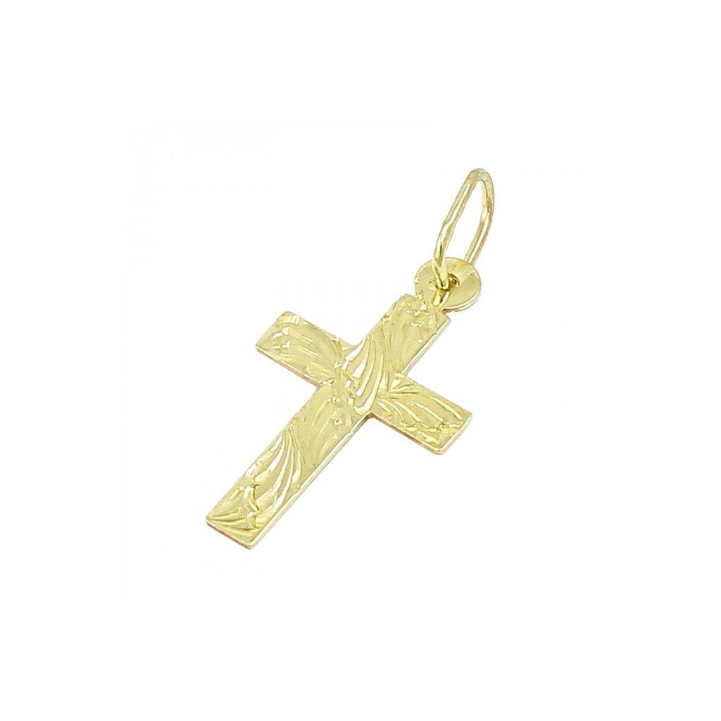 Privesok križik zo žltého zlata 2473 -5Z