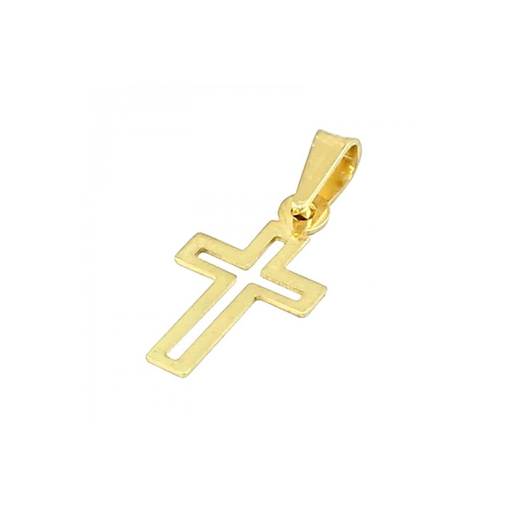 Privesok križik zo žltého zlata 2474uZ