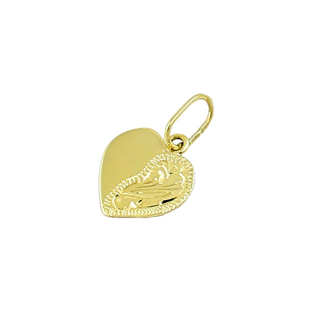 Zlatý privesok srdce 2412Z