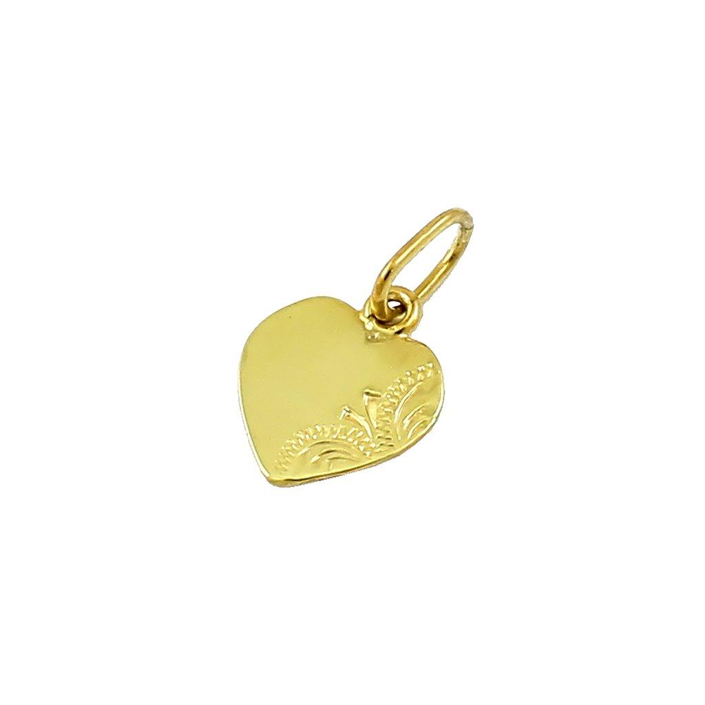 Zlatý privesok srdce 2314-7Z