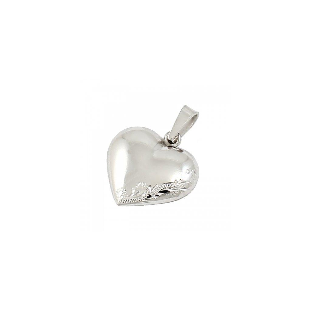 Privesok z bieleho zlata v tvare srdca 2465Z