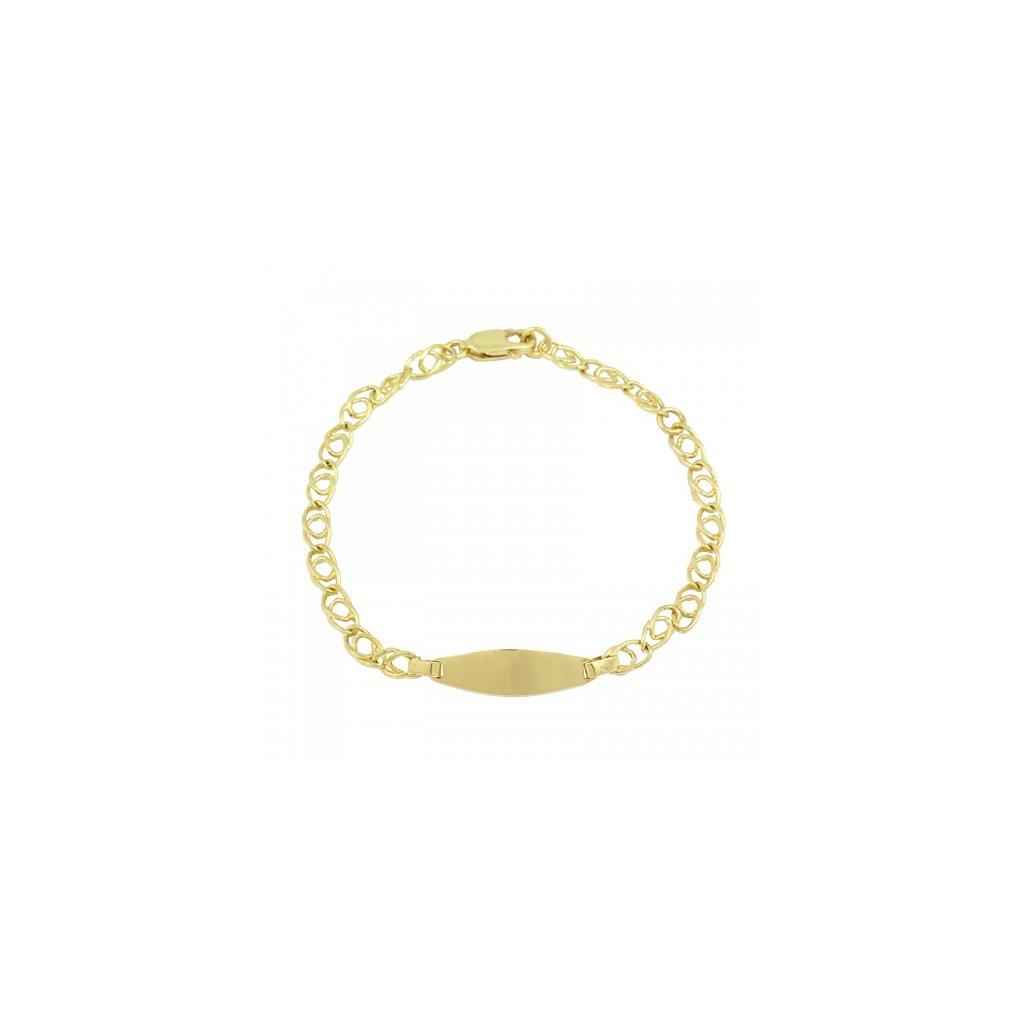 Zlatý náramok s platničkou 2576Z