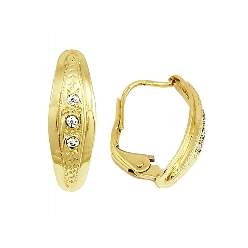 jemné zlaté náušnice 2340