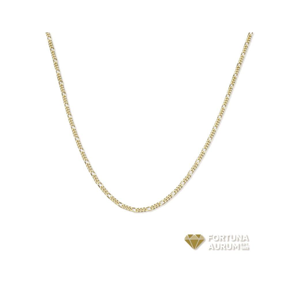 Zlatá retiazka fygaro 2608Z04