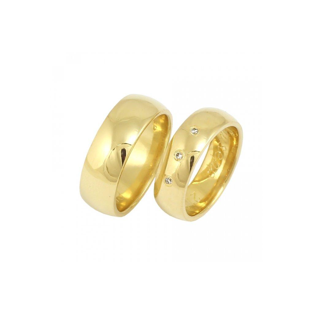 krásne zlaté obrúčky s diamantmi