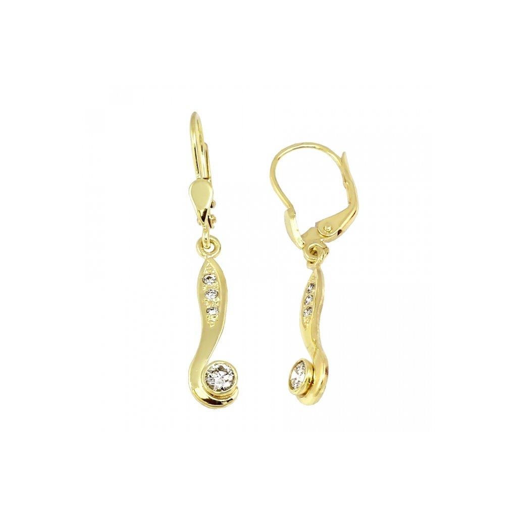 elegantné diamantové náušnice zo zlata