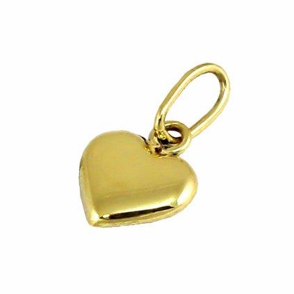 Zlatý privesok srdce 2479Z