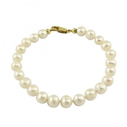Zlatý perlový náramok 259899/Z/Px