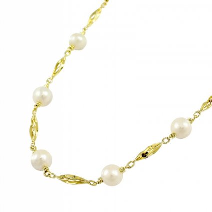 Zlata retiazka doplnená perlami 2630 ZP