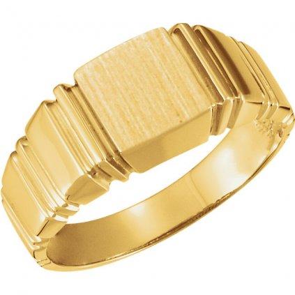 Netradičný pánsky prsteň zo zlata 9302