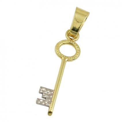 Zlatý privesok kluč 2459ZB