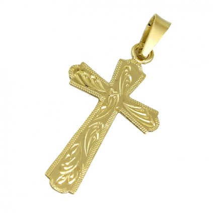 Gravirovaný zlatý križik 2461Z