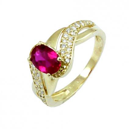 výrazný zlatý prsteň 2281 Z CX