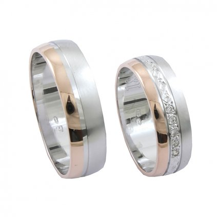 2014002 snubné prstene s červeným zlatom