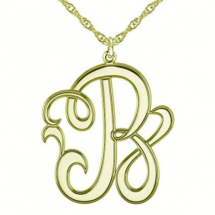 zlatý prívesok pismeno b 86029
