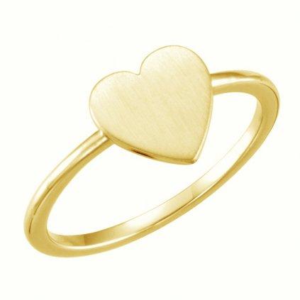 Prsteň zo žltého  zlata 22197/Z