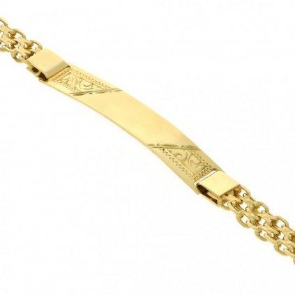 Zlatý náramok 2620Z s platnickou
